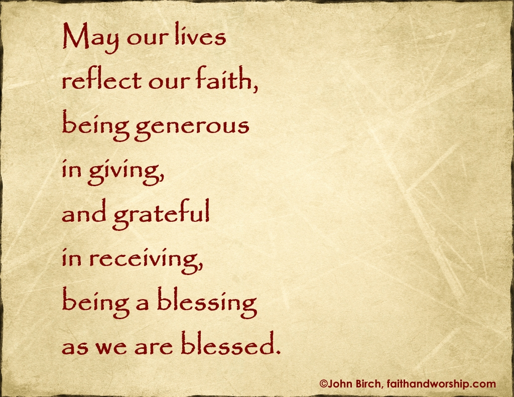 prayer, lives, faith, giving, receiving, blessing, blessed