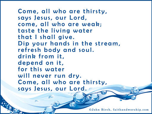 prayer,thirsty, living water, Jesus, drink, Lord